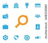 set of 13 enterprise icons set... | Shutterstock .eps vector #648233083