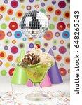 delicious and creamy ice cream... | Shutterstock . vector #648265543