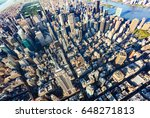 aerial view of the skyscrapers... | Shutterstock . vector #648271813