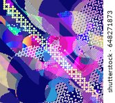 abstract vector background dot... | Shutterstock .eps vector #648271873