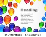 colorful festive vector...   Shutterstock .eps vector #648280417