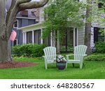 front yard of suburban middle... | Shutterstock . vector #648280567