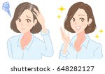 a middle aged woman is in... | Shutterstock .eps vector #648282127