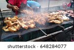 vendor selling cuisine at... | Shutterstock . vector #648284077