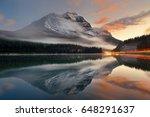 mountain lake and traffic light ... | Shutterstock . vector #648291637