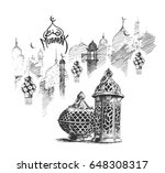eid mubarak celebration ... | Shutterstock .eps vector #648308317