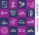 sport icon. set of 16 sport... | Shutterstock .eps vector #648318187