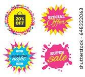 sale splash banner  special... | Shutterstock .eps vector #648322063