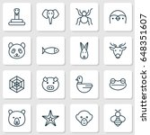 zoo icons set. collection of... | Shutterstock .eps vector #648351607