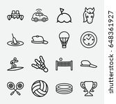 sport icon. set of 16 sport... | Shutterstock .eps vector #648361927