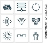 artificial intelligence icons... | Shutterstock .eps vector #648366463