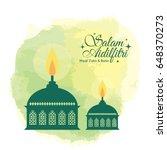 hari raya aidilfitri greeting... | Shutterstock .eps vector #648370273