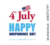 happy 4th of july  ... | Shutterstock . vector #648371797