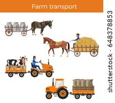 animal powered transport. truck ... | Shutterstock .eps vector #648378853