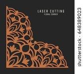 laser cutting corner. tapestry...   Shutterstock .eps vector #648389023