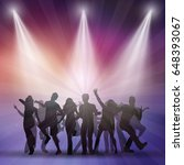 silhouettes of people dancing... | Shutterstock .eps vector #648393067