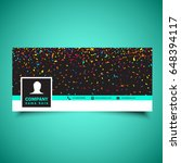 decorative social media... | Shutterstock .eps vector #648394117