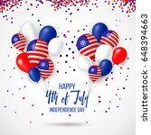 happy independence day of usa ... | Shutterstock .eps vector #648394663