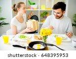 couple having breakfast | Shutterstock . vector #648395953