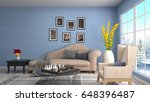 interior living room. 3d... | Shutterstock . vector #648396487