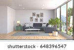 interior living room. 3d... | Shutterstock . vector #648396547