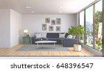 interior living room. 3d... | Shutterstock . vector #648396547