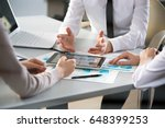 business people working with... | Shutterstock . vector #648399253