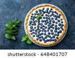 delicious dessert blueberry... | Shutterstock . vector #648401707