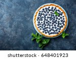 delicious dessert blueberry... | Shutterstock . vector #648401923