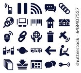 internet icons set. set of 25... | Shutterstock .eps vector #648407527