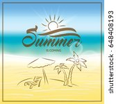 summer is coming text on... | Shutterstock .eps vector #648408193