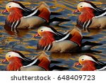 Mandarin Ducks  Photomontage