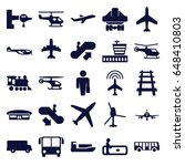 passenger icons set. set of 25... | Shutterstock .eps vector #648410803