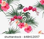 beautiful seamless vector... | Shutterstock .eps vector #648412057