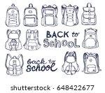 hand drawn vector set of sketch ... | Shutterstock .eps vector #648422677