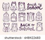 hand drawn vector set of sketch ...   Shutterstock .eps vector #648422683