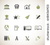 education icon set | Shutterstock .eps vector #648436903