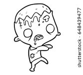 cute cartoon zombie | Shutterstock .eps vector #648439477