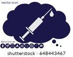 medical syringe icon vector eps ...   Shutterstock .eps vector #648443467