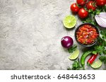 ingredients for making tomato... | Shutterstock . vector #648443653