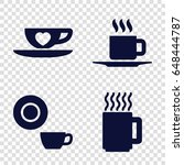 cappuccino icons set. set of 4... | Shutterstock .eps vector #648444787