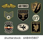 set of military and army badge...