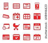 calendar icons set. set of 16...   Shutterstock .eps vector #648446623