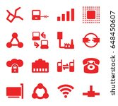 connect icons set. set of 16... | Shutterstock .eps vector #648450607