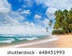 ocean  picturesque beach and... | Shutterstock . vector #648451993