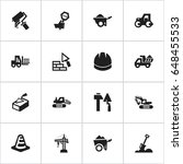 set of 16 editable construction ...