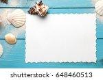 marine summer postcard.... | Shutterstock . vector #648460513