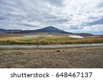 mountain and steppe scenery of... | Shutterstock . vector #648467137