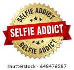 selfie addict round isolated... | Shutterstock .eps vector #648476287
