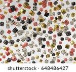 probabilistic dice 3d render | Shutterstock . vector #648486427